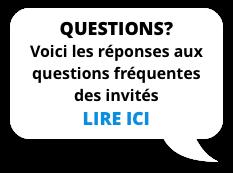 Questions? Voici les réponses aux questions fréquentes des invités - Lire ici